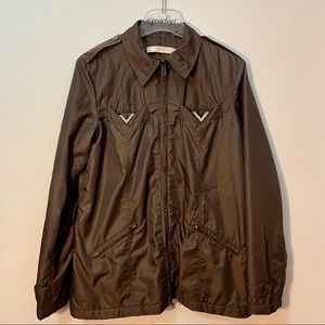 Valentino R.E.D Brown Zip Jacket With Bling Size 8